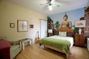 Spacious Zen room in the heart of petite patrie