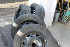 205/60/16/ Winter Tires on Ford Rims
