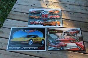 Corvette, Camaro, Mustang Tin Signs