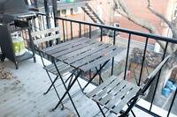Table et chaises de jardin Ikea