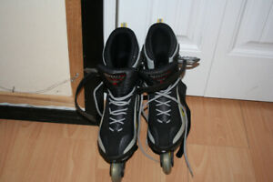 ROLLERBLADE, homme (10) + accessoires + sac transport, 150$