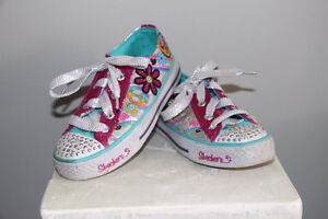 girl sketchers twinkle toes shoes - size 12 Cambridge Kitchener Area image 2