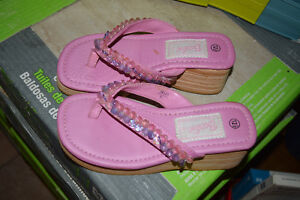 Girls' Barbie sandals - Brand new! Size 12 1/2 youth