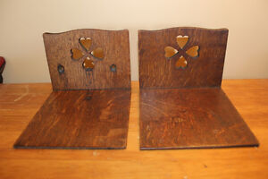Vintage Wooden Bookends with Heart Cut Outs London Ontario image 3