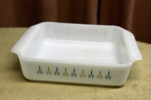 Fire King Candle Glow Pattern Square Baking Dish Vtg. 1967 -72