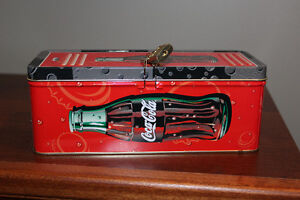 Hinged with LOCK & KEY Coca-Cola tin