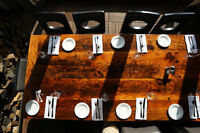 Restaurant Tables custom made from reclaimed wood