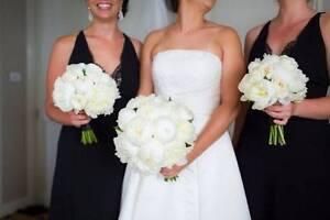 Pronovias Satin A-Line Strapless Wedding Dress 10-12 Waverton North Sydney Area Preview