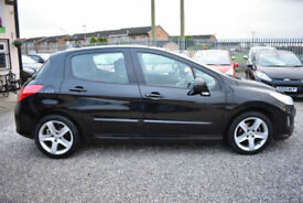 Peugeot 308 1.6 VTi ( 120bhp ) 2010MY Sport 5 DOOR+BLACK+SUPERB+