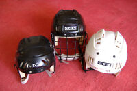 3-GOOD USED HOCKEY HELMETS BOY'S/ GIRL'S
