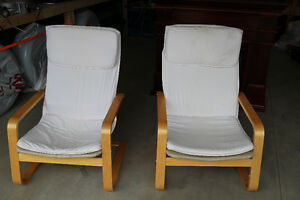 Ikea Pelang Chairs - Cream coloured - $50 for 1 or $80 for both