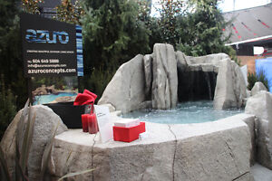 Rock Grotto Hot Tub and waterfall
