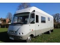 Hymer S820 5 BERTH MOTORHOME Large Garage Left Hand Drive