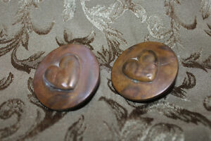 Pair of Old Antique Victorian Horse Bridle Buttons/Rosettes - He London Ontario image 1