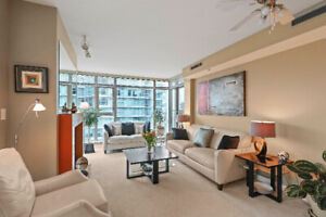 Luxury 2 bed 2 bath Marina Side unit in Coal Harbour