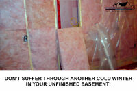 WINTER'S COMING! TIME TO INSULATE BASEMENT OR GARAGE!