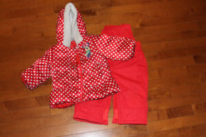 Girls 12-18 month Disney jacket and snowpants.