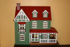Large Victorian Doll House - Furniture Included