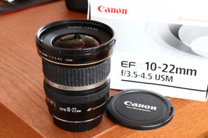 Canon EF-S 10-22mm wide andgle zoom lens
