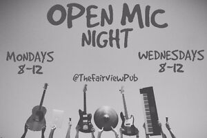 Open Mic Every Monday & Wednesday @ The Fairview Pub Vancouver