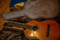 Beautiful Aria classical guitar with hardcase