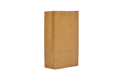 Ajm Packaging Natural Kraft Grocery Bag - 500 Per Case.