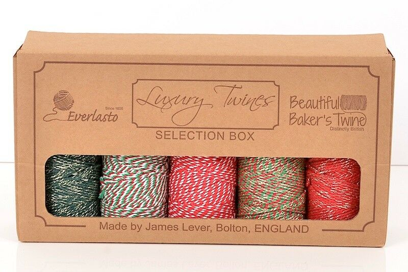 EVERLASTO LUXURY TWINE SELECTION BOXES VALUE PACK OF 5 SPOOLS OF CRAFT TWINES