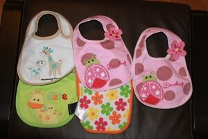New Without Tags Girl's Bibs