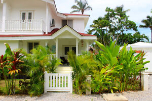 Las Terrenas, new villa, 2 bedrooms, 300 m to the beach