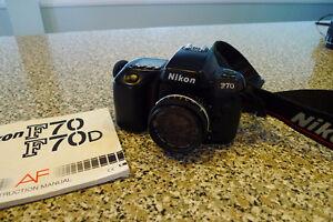 Nikon F70 with Nikkor 50mm manual focus lens