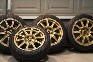 "*** 17"" BBS Subaru Impreza WRX STi Gold *** 5x100"