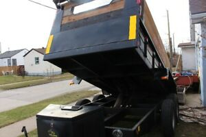 80$ a day  DUMP TRAILER FOR RENT+Flat deck trailer service