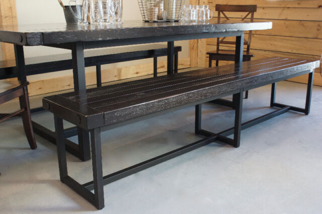 Reclaimed Wood amp Iron Dining Table By LIKEN Woodworks  : 27 from www.kijiji.ca size 640 x 426 jpeg 48kB