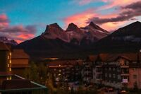 Incredible Three Sisters view from the deck - Canmore Condo