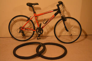 "17"" Norco mountain bike with hybrid roadslicks - like new"