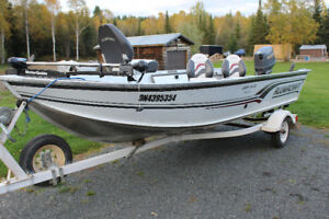 16' Alumacraft Lunker with Trailer and 25HP Suzuki Outboard