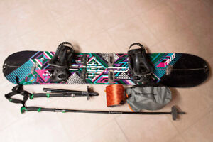 Women's full splitboard setup