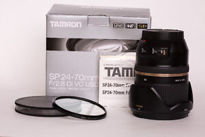 Tamron SP 24-70mm F/2.8 lens for Canon plus Sigma 82mm UV filter