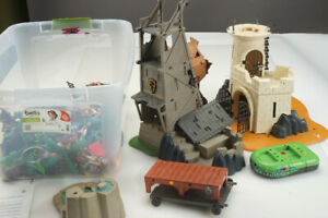 Large Lot of Playmobil Figures and Toys Knights Pirates Castle