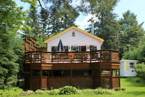 Charming Lakefront Chalet in Val David avail weekly/weekends-ZEN