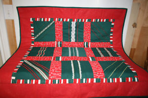 Christmas- Small Quilted Tablecloth