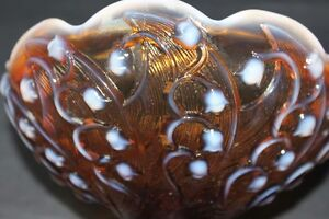 Fenton Glass Cameo Opalescent compote candydish Lily of the Vall Kingston Kingston Area image 5