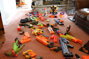 NERF GUN COLLECTION & ASSORTED NERF DARTS