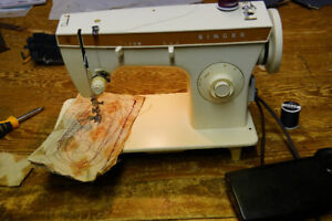"""SERGER  &  """"two- HEAVY DUTY sewing machines"""""""