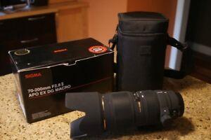 Sigma, Lentille de camera70-200mm F2.8 APOEX DG MACRO