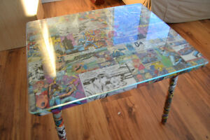 Small comic book end table