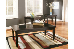 ASHLEY MODERN 3PC COFFEE TABLE SET