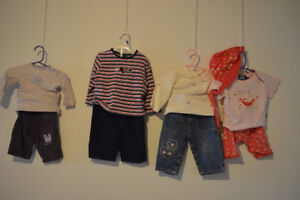 4 Baby Girls Outfits 6 - 18 months.  Gently used.