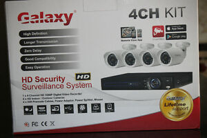Galaxy 4CH Security System Camera Kit - BRAND NEW!