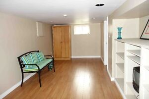 Spacious one bedroom basement apartment in East York